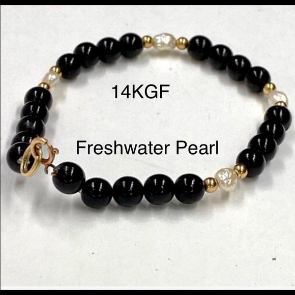 Handmade Acorn Fresh Water Pearl adjustable Bracelet